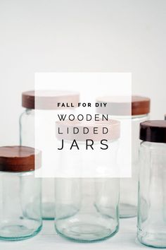 Fall For DIY Wooden Lidded Jars #DIY #crafts