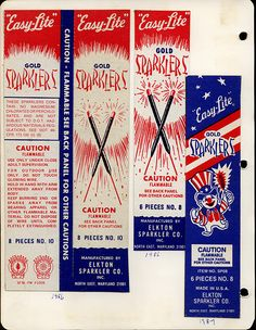 1980's  sparklers...  We luv'd them!  4th of July
