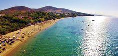 Gerakini Beach aerial view by Greece Trip, Greece Travel, Halkidiki Greece, Aerial View, Seaside, Beaches, Sunrise, Greek, Water