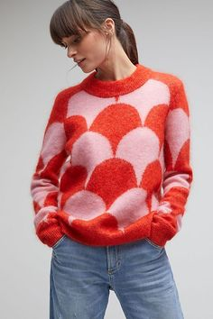 Shop Anthropologie's collection of knitwear for women. Our selection of soft, cosy knits in statement colors and cuts will complete your wardrobe. Grunge Look, Grunge Style, Soft Grunge, 90s Grunge, Grunge Outfits, Grunge Clothes, Knit Fashion, 70s Fashion, Vintage Fashion