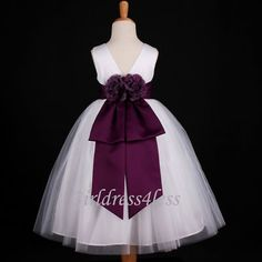 151 best flower girl purple lavender images on pinterest girls whiteplum bridal flower girl dress 18m 2 34 6 8 10 12 mightylinksfo