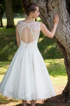 1950 ' s stile abito da sposa. Corpetto in pizzo di AmiBcouture