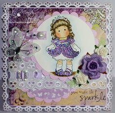 I love the sparkly dress on this Tilda card :)