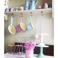 Riess pastel kitchen enamelware