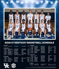 2016-2017 University of Kentucky Basketball Schedule