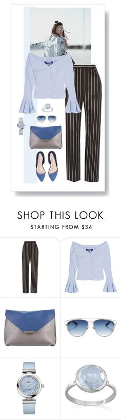 """""""Stripes on Stripes"""" by style-stories ❤ liked on Polyvore featuring Balenciaga, Jacquemus, Emilio Pucci, Christian Dior, OMEGA and BillyTheTree"""