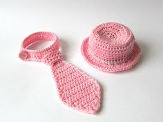 Crochet set for baby girl, Tie for baby,Crochet tie,Photo prop,Baby Neck tie pink,Crochet neck tie,accesories for baby girl