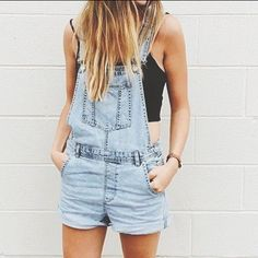 #Denim#Faded#Overall#Short#Top#Black#Ombre#Summer_Feel  Call me geeky but ill just wear and love them till late 30's