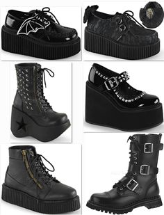 Just in this week cute, stompy, spooky styles from Demonia at www.ipso-facto.com and our Fullerton, CA store.