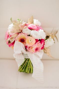 Love these pink blooms with metallic gold accents.  Michelle Edgemont | Decorations. Florals. Styling. Awesome.