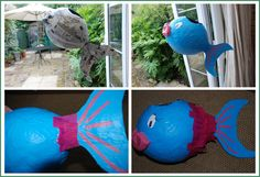 Red Ted Art's Blog » Blog Archive » How to.. make a Paper Mâché Piñata Fish!