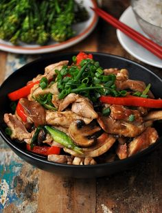 Three Mushroom Ginger Chicken