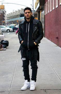 half off 5ad12 9dd68 all black, white sneakers yes Moda Para Caballero, Blog De Moda Masculina,  Estilos