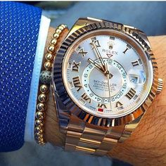 Amazing Wristgame with Rolex Sky-Dweller by @dailywatch by wristgame.it