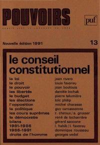 Pouvoirs #13 : Le conseil constitutionnel