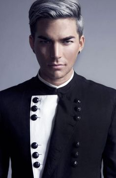 Black and White suit | Adam Lambert