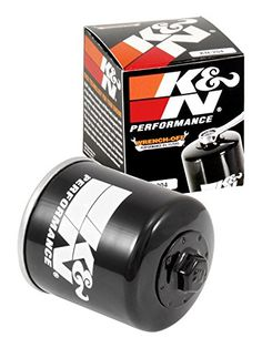 K&N KN-204 Motorcycle/Powersports High Performance Oil Filter  O/E replacement oil filters for most cars, trucks, SUV's, motorcycles, & ATV's  17 mm exposed nut designed for easy oil filter removal  Heavy duty construction for extreme conditions  Resin-impregnated filter media traps 99% of harmful contaminants  Anti-drainback valve (where applicable) eliminates dry starts, prevents oil from draining back into crankcase during engine shutdown