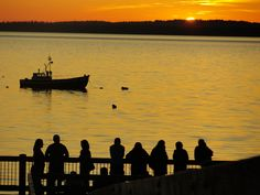 sunset in Bellingham, WA