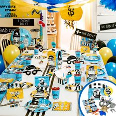 cops and robbers kids party decorations | Cops and Robbers Party - Party Packs, 88239