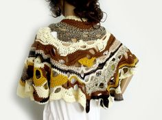 Freeform crochet cape. Boho shawl. Crochet от allmadewithlove