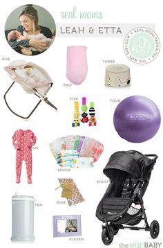 Real Moms Favorite Baby Products - Leah & Etta - a real moms favorites for her new little lady!