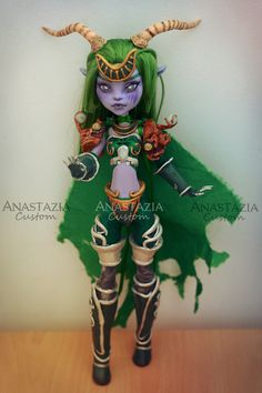Monster High custom OOAK Customized doll Ysera World of Warcraft