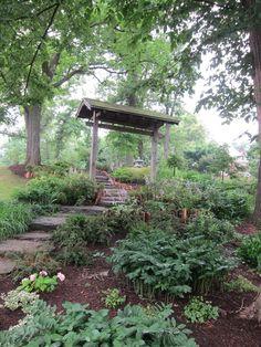The Japanese Garden in Buffalo's Olmsted-designed Delaware Park