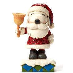 Peanuts by Jim Shore - Santa Snoopy with Bell