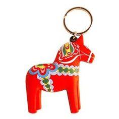 Favors - rubber Dala horse keyring