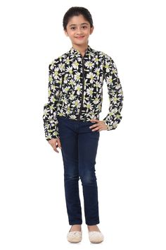 #Gift your #daughter this pretty floral #bomberjacket this new year. To shop click below. http://www.oxolloxo.com/new-arrivals-clothes/girl-floral-bomber-jacket.html?___SID=U