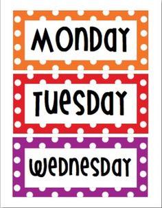 Days of the Week Rainbow - Polka Dot -