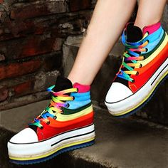 $35 Rainbow high top shoes