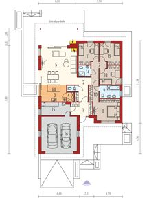 Simon III G2 energo - Rzut parteru Beautiful House Plans, Beautiful Homes, Projects To Try, Floor Plans, House Design, How To Plan, Home Decor, Shelters, Prefab Houses