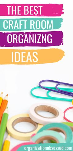 Looking for hacks to organize craft supplies? Then you need to see these craft room organizing ideas. Here are 18 can't miss organizing ideas for crafts! #crafts #craftsupplies #organizing #organizingideas #organizingcraftsupplies #organizingcraftroom #craftroomorganization