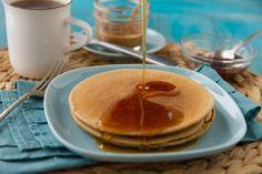 5 Ingredient Grain-free Pancakes  •⅔ cup chickpea/garbanzo bean flour   •1 teaspoon ground cinnamon   •1 teaspoon gluten-free baking powder   •⅔ cup water (for thin crepe-like pancakes) OR ½ cup water (for thicker pancakes)   •2 eggs   •1 teaspoon pure vanilla extract