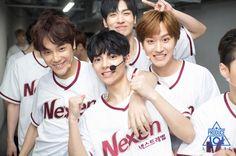 Joo Haknyeon (주학년), Yoon Yongbin (윤용빈), Lee Jihan (이지한) and Jeong Woncheol (정원철)