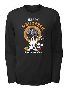 Happy Halloween Party 31st Oct Black T-Shirt Front
