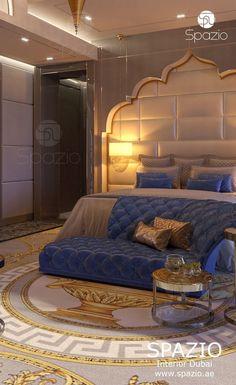 Bedroom interior design in Dubai Master Bedroom Interior, Modern Bedroom Furniture, Master Bedroom Design, Interior Design Dubai, Luxury Homes Interior, Moroccan Bedroom, Luxury Sofa, Luxor, Luxurious Bedrooms