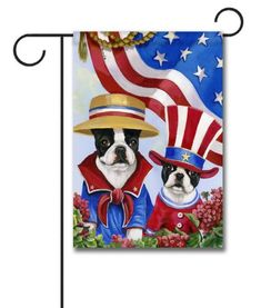 Boston Terrier American Pride – Garden Flag – 12