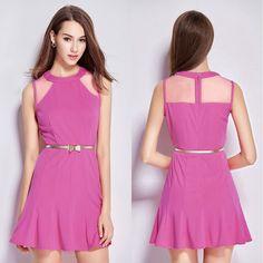 Popular-Summer-Pink-Dress