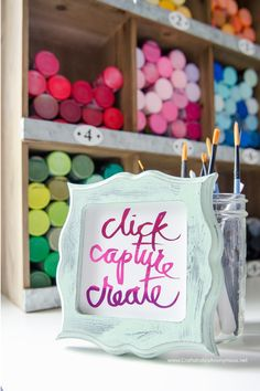 DIY Craft Room decor idea and inspiration