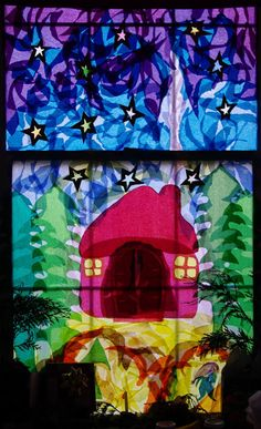 passengers on a little spaceship: papier-mâché stained glass advent window