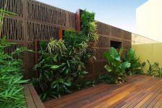 Vertical Garden Design Ideas by Atlantis Corporation Australia Pty Ltd Vertical Green Wall, Vertical Garden Design, Fence Design, Vertical Gardens, Courtyard Landscaping, Modern Courtyard, Landscaping Ideas, Atlantis, Decorative Screen Panels