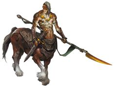 Centaur (from the D&D fifth edition Monster Manual). Art by Wesley Burt.