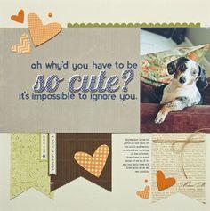 Scrapbook layout - So Cute