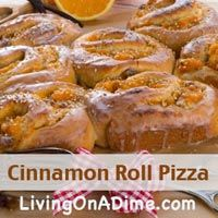cinnamon roll pizza recipe tasty breakfast recipe easy cinnamon rolls ...
