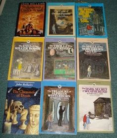 John Bellairs books - I loved these! I had been trying to think of his name so I could search ebay