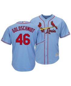 9488e81f8 Majestic Men s Paul Goldschmidt St. Louis Cardinals Player Replica Cool  Base Jersey - Blue M
