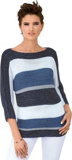 Creation L Pullover im Streifen-Stil ab 34,99€. Pillover mit lässigen Fledermaus-Ärmeln, Polyacryl, metallisierte Fasern, Figurumschmeichelnde Form bei OTTO