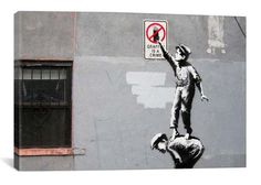 Banksy The Street is in Play By Banksy Canvas Print - iCanvas.com